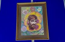 Harry Fred Darking -Gouache on Board - D H Lawrence -Pansies Dated 1985