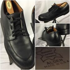 Alden Split Toe Oxford Shoes Lace Sz 11.5 AAA Men Black Leather Made USA GUC YGI