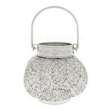 Titular de la luz de té de plata Morrocan Hermosa Linterna De Metal Perforado 15cm Alta