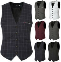 Men's Formal Business Casual Dress Vest Suit Slim Fit Tuxedo Waistcoat Coat Top