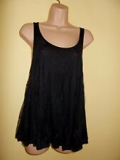 NEW WITH TAGS H & M  BLACK  LACE TOP - SIZE 12/ EU 38
