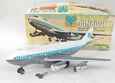 VERY Vintage Key Wind Up Boeing 747 Jumbo Jet Airplane Toy w Box