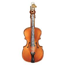 """Cello"" (38053)X Old World Christmas Glass Ornament w/ OWC Box"