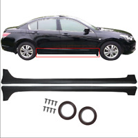 Fit For 2013-2017 Honda Accord Sedan 4-Door MOD Style Black Side Skirts Body Kit
