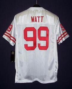 NEW Adidas Wisconsin Badgers #99 J. J. Watt Sewn White Road Jersey YOUTH XL #1