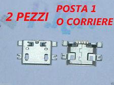 CONNETTORE RICARICA ( 2 pezzi )  MICRO USB PER MEDIACOM PhonePad Duo G410 M-PPDG