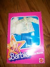 Vintage Mattel Barbie Alta Moda Italian Fashion Jacket & Blue Pant Set AD101