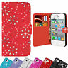 Bling Diamante Leather Diamond Wallet Case Cover For Apple iPhone 5 5s 5c