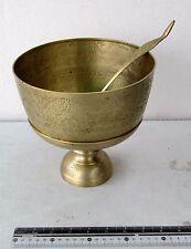 Vintage Brass Buddhist 3 Piece Rice Alms Bowl Set Mythical Naga Design Handmade