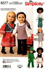 Simplicity Sewing Pattern 8577 Retro Vintage Doll Clothes