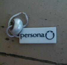 Persona Sterling Silver European White Pearl 925 Core Charm Bead $35