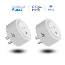 2-Pack Wifi Smart Socket Outlet Plug Work With Alexa Google Home Remote Control
