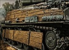 Sherman US Panzer Holz Panzerung Zusatzpanzerung Bausatz Kit RC Tamyia HL  1/16