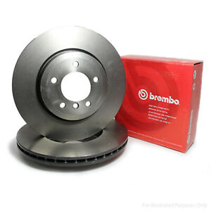 Genuine Brembo 5 Stud Front Vented Coated High Carbon Brake Discs - 09.C636.11