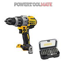 DeWalt DCD996N 18V XR 3-Speed Brushless Combi Drill Body Only c/w DT7944 Bit Set