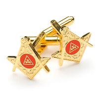 New Superb Quality Masonic Royal Arch Cufflinks Gold Plated