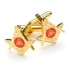 More details for new superb quality masonic royal arch cufflinks gold plated