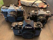 Vintage Canon Camera Lot. F-1, At-1, Ae-1