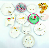 Ceramic Trinket Dish Holders Jewellery Key Rings Earring Coin Home Gift Ornament