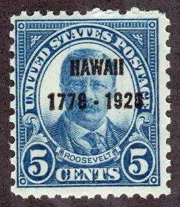 US # 648(1928) 5c - MNH/OGnh - Grade: Fine- EFO: Blue line above Teddy's head.