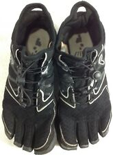 Fila Skeletoes Mens 7 Shoe Sock Black Five Finger Toe Barefoot Minimalist Water