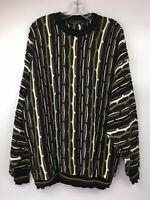 Protege Collection XXL Multi-Color Coogi Style Sweater Medium Biggie Cosby Vtg