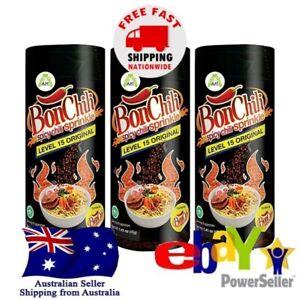 3x Kobe BonCabe Bon Chili Spicy Sprinkle Seasoning Level 15 Extra Hot 40g Halal