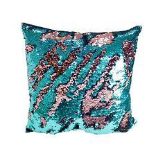 Set of 2 Decorative Mermaid Sequin Throw Pillows for Living Room Sofa Cushion