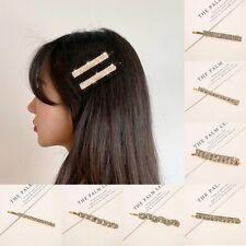 Fashion Women Bling Hair Clip Hairpin Crystal Barrette Bobby Hair Accessories