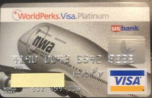 Northwest Airlines Worldperks Platinum Visa credit card expire 2009