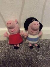 Ty Peppa Pig & Pirate George Keyrings **FREE UK POSTAGE**
