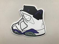 "Nike Air Jordan 6 VI ""Sport Blue"" -  Sneaker Shoe shoebox  laptop sticker decal"