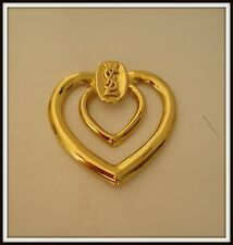 Broche attache Yves St Laurent Goossens Brooch scarf vintage jewelry