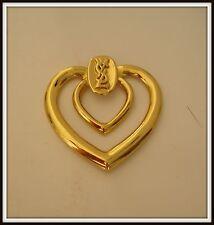 Broche attache Yves St Laurent Goossens Brooch scarf vintage jewelry