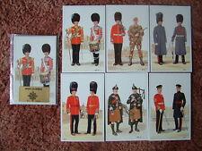 Postcards - IRISH GUARDS.  6 card set.  Mint Condition.