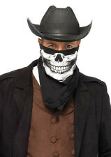 Men's Skull Bandana Handkerchief Skeleton Face Mask Cowboy Scarf 1pk Leg Avenue