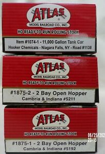 Atlas HO Ready to Run Rolling Stock NOS Estate Find Never Opened