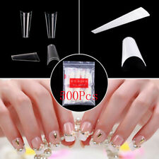 500PC Flat French Coffin False Nail Tips Half Cover Acrylic Gel Tip Nails US