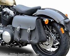 """Cuir sacoche de selle """"Boston"""" 20 L à gauche Harley Davidson, sportster, déballer cendres"""