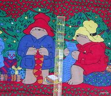"Paddington Bear Draft stopper window blocker Fabric Panel Cut sew 11"" Christmas"