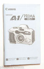 Canon A1 Prima AS1 35mm Film Camera Manual Instruction Book - En Es Fr - USED GD