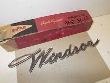 "Mopar NOS Quarter Panel Name Plate ""WINDSOR"" 61 Chrysler"