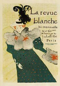 AP16 Vintage 1895 La Revue Blanche Toulouse-Lautrec French Poster A1/A2/A3/A4