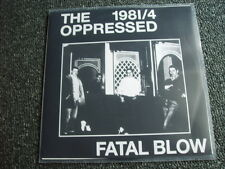 The Oppressed-Fatal Blow 7 PS-Made in UK-white Label-OI!-PUNK