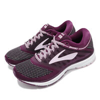 Brooks Revel Plum Purple Black Womens Running Shoes Runner Sneakers 120249 1B
