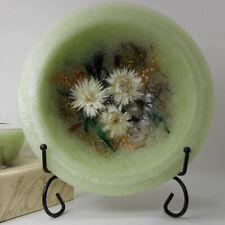 "Habersham Wax Pottery Bowl Sage - 7"" Wax Vessel Flameless Usa Made"