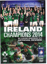 IRELAND CHAMPIONS 2014 - RBS SIX NATIONS NEW & SEALED RUGBY DVD - 2 DISCS
