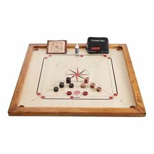 "Carrom Board - Coins, Striker, Powder & 33 x 33"" Rosewood Board in Carrom Set"