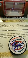 BILL GUERIN SIGNED AUTOGRAPHED LIMITED EDITION 1/3 TEAM USA PUCK COA NET