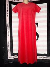 RARE NWT Victoria's Secret COUNTRY Red VELOUR/Velvet Nightgown Gown Medium M